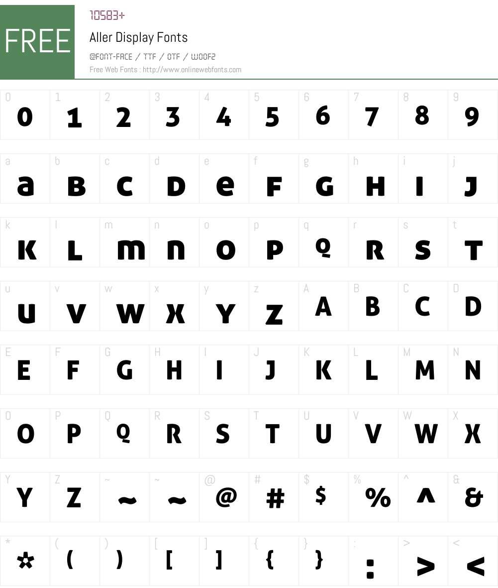 Aller Display Font Screenshots