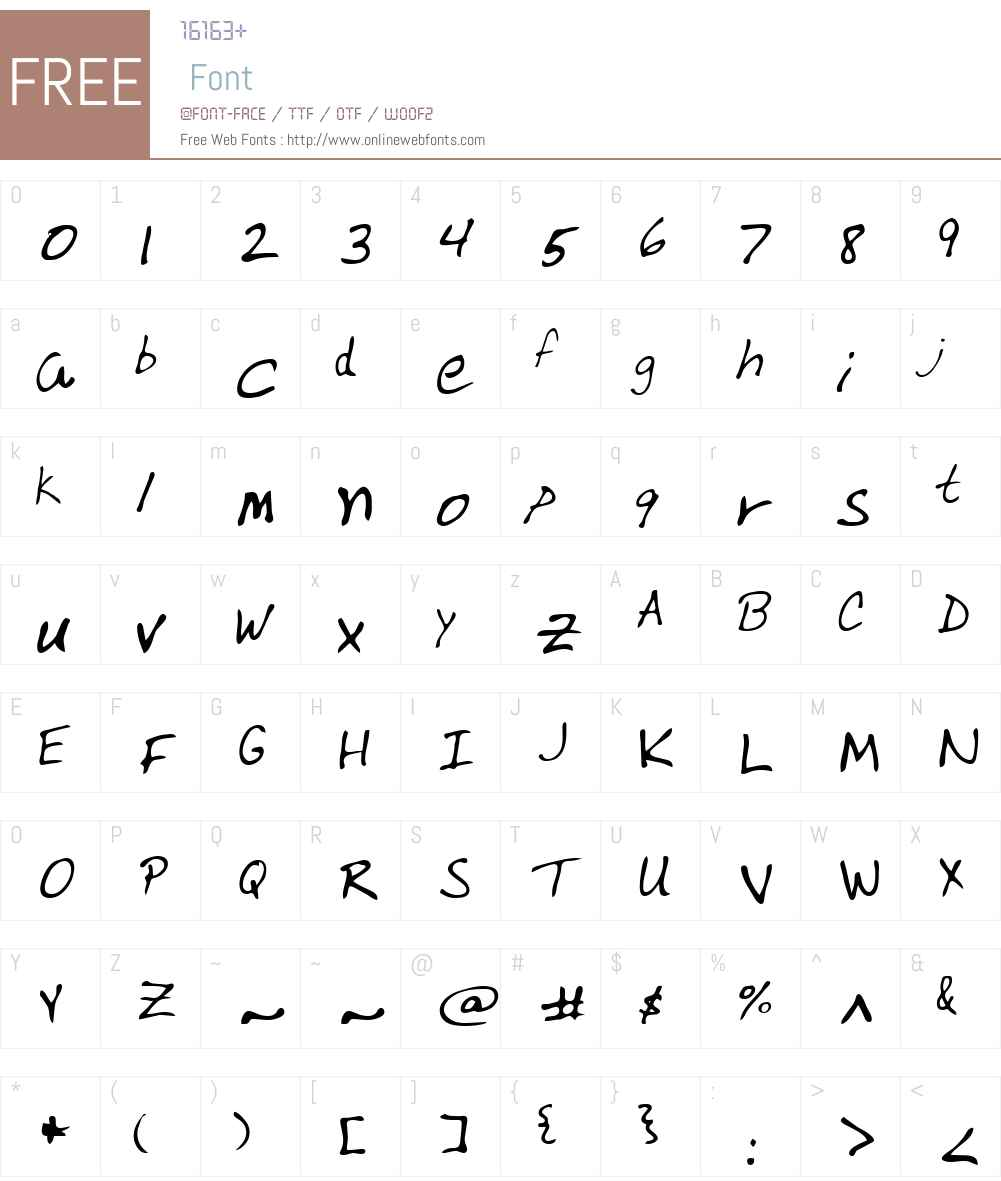 Varnell Font Screenshots