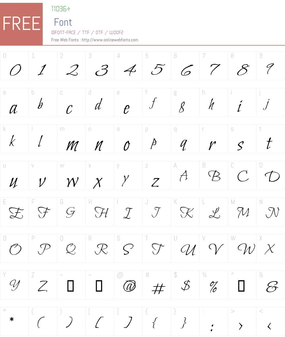 Bilbo Font Screenshots