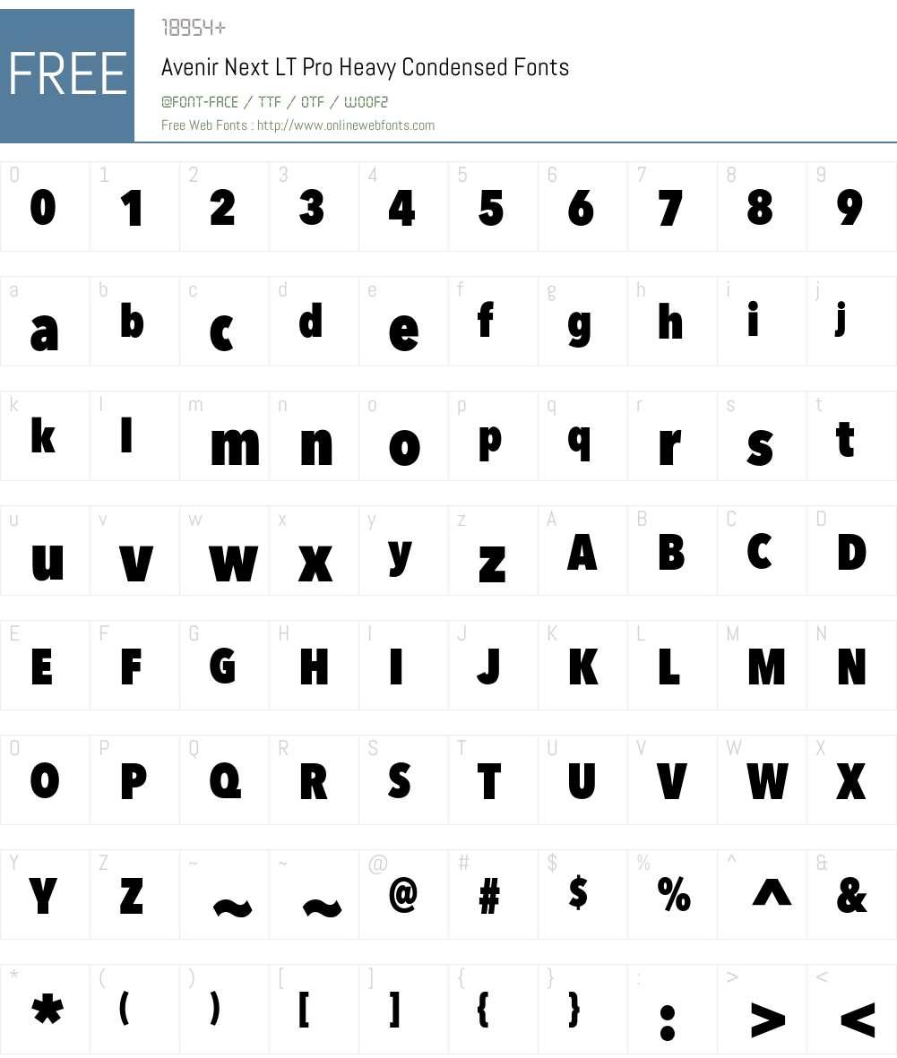 Avenir Next LT Pro Font Screenshots