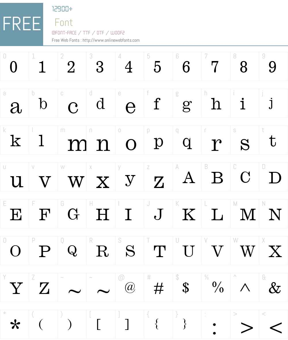 Monotype Ionic Font Screenshots