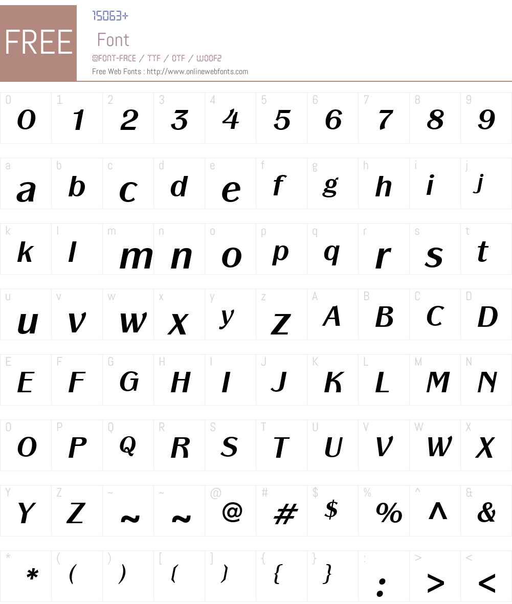 ITCPanacheW01-BoldItalic Font Screenshots