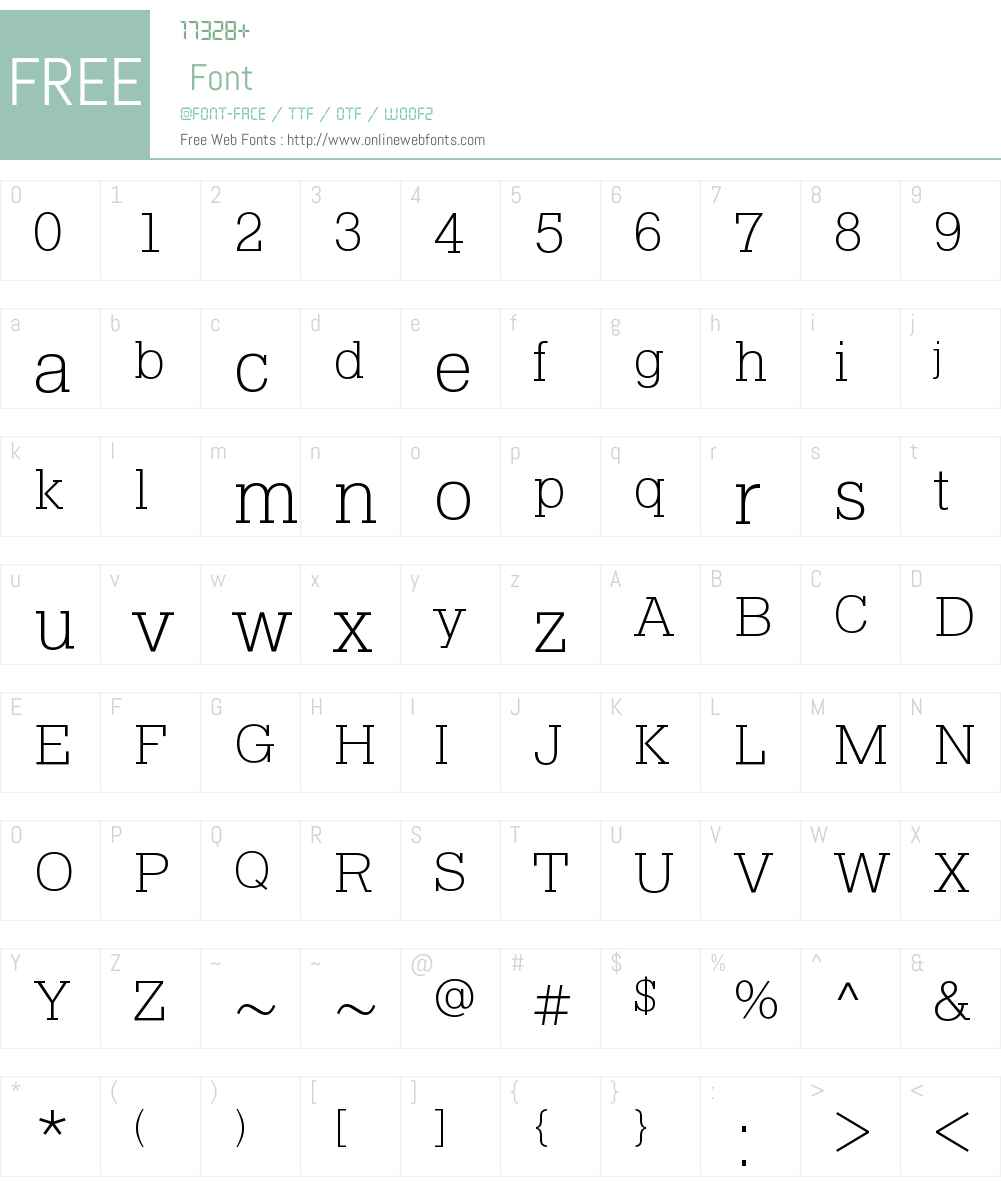 Pragmatica Slab Extra Light Font Screenshots