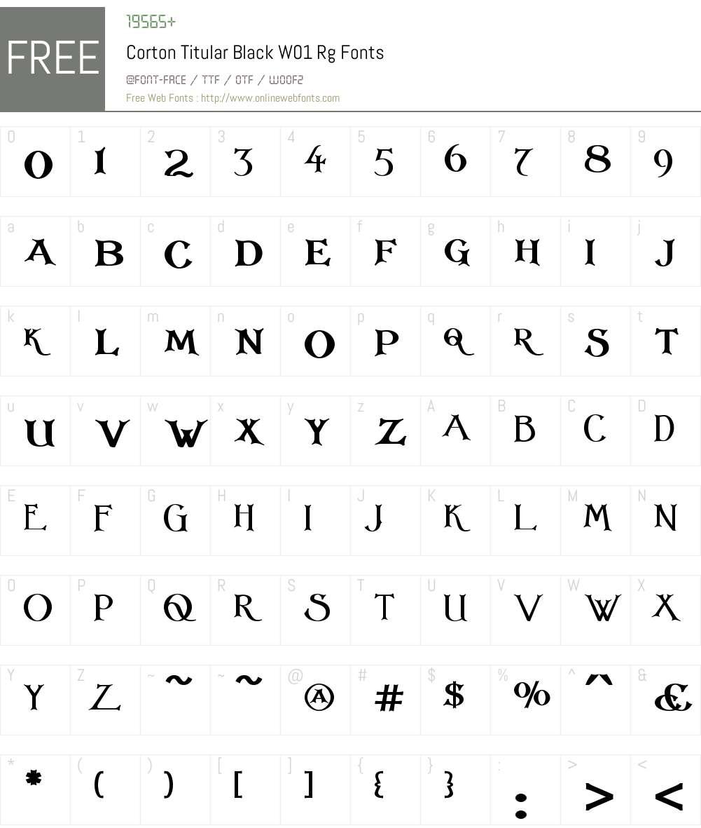 CortonTitularBlackW01-Rg Font Screenshots