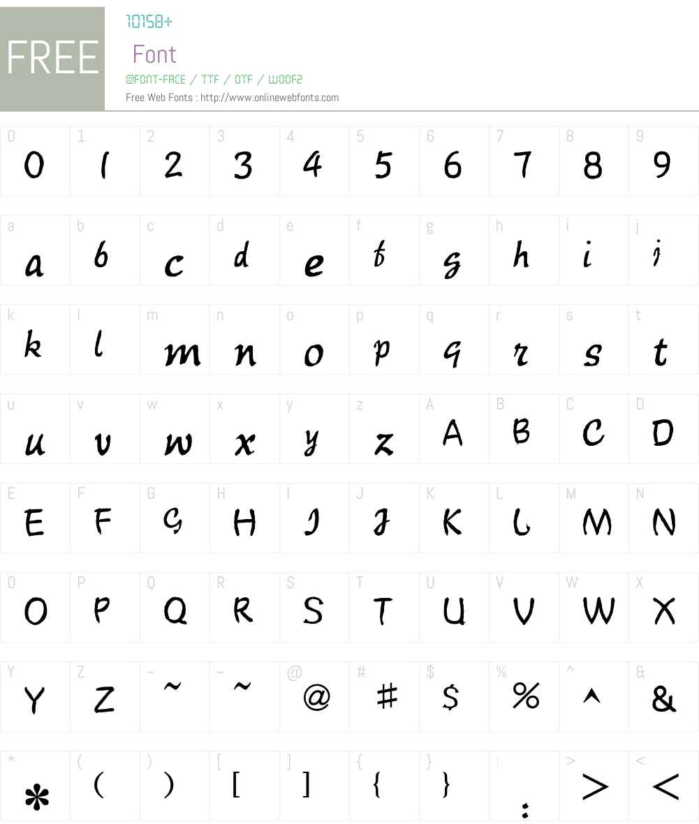 HY ShuTong Traditional Chinese Font Screenshots