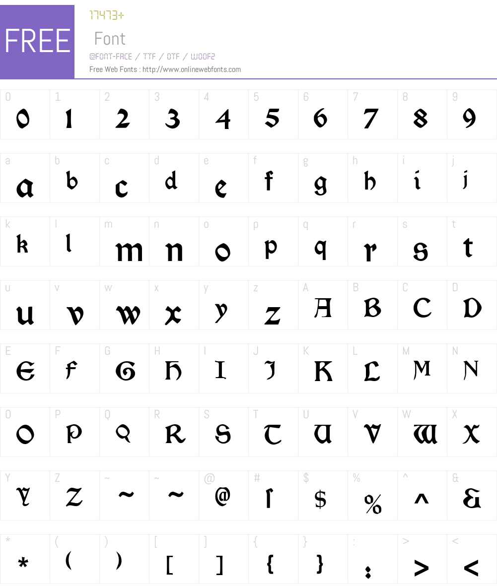 Morris Roman Font Screenshots