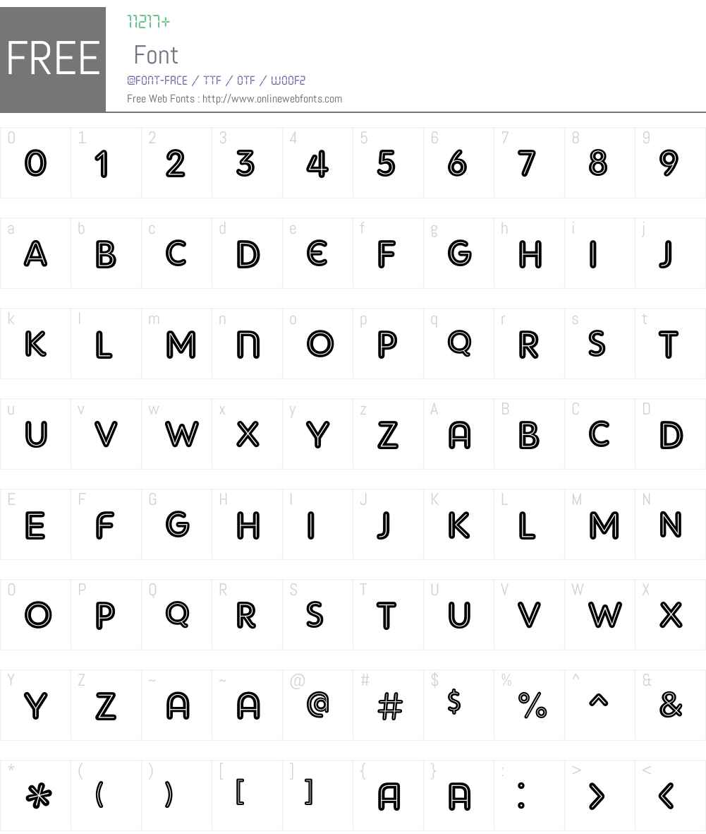 AdamGorry-Inline Font Screenshots