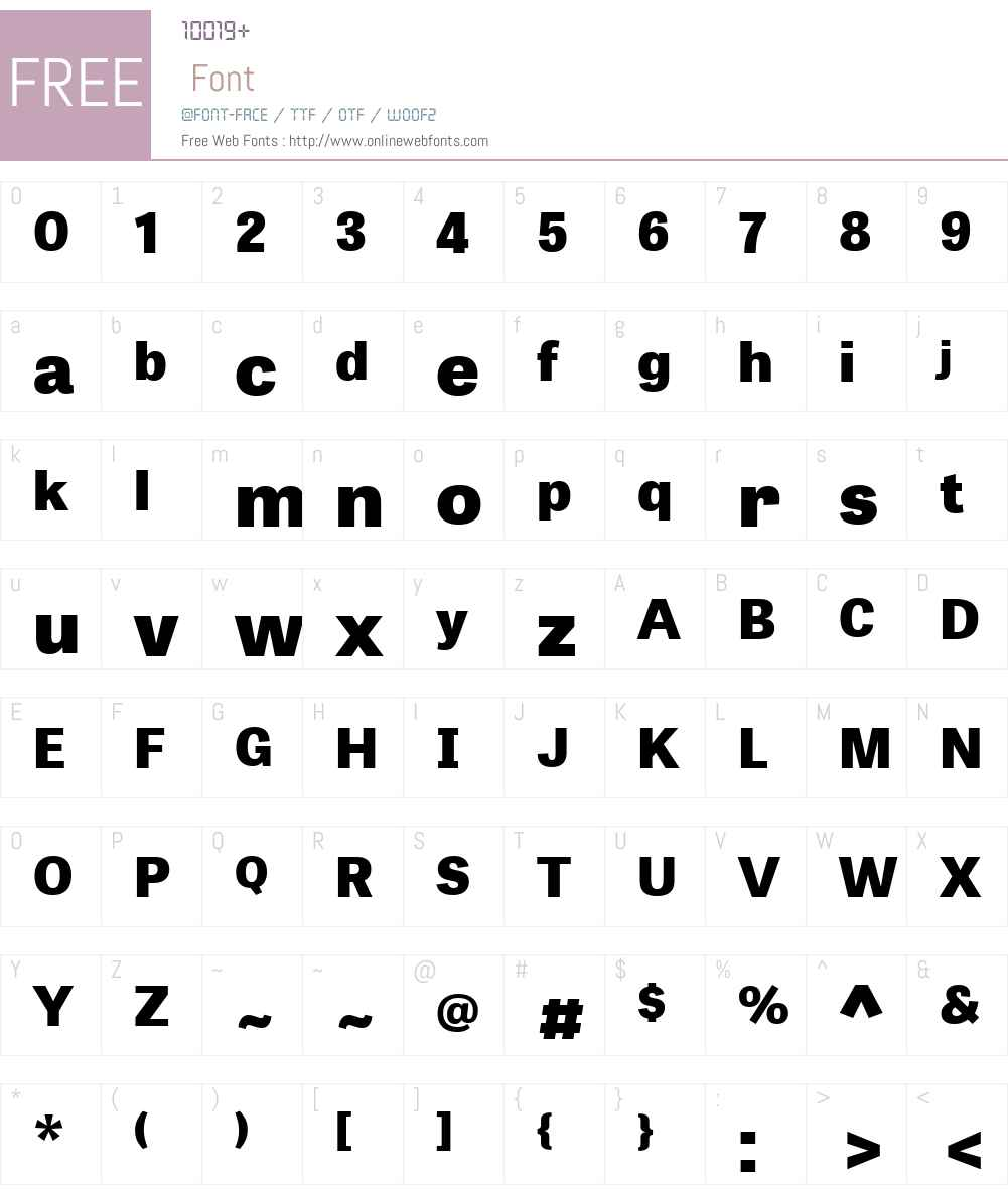 TabletGothicWideW01-XBold Font Screenshots