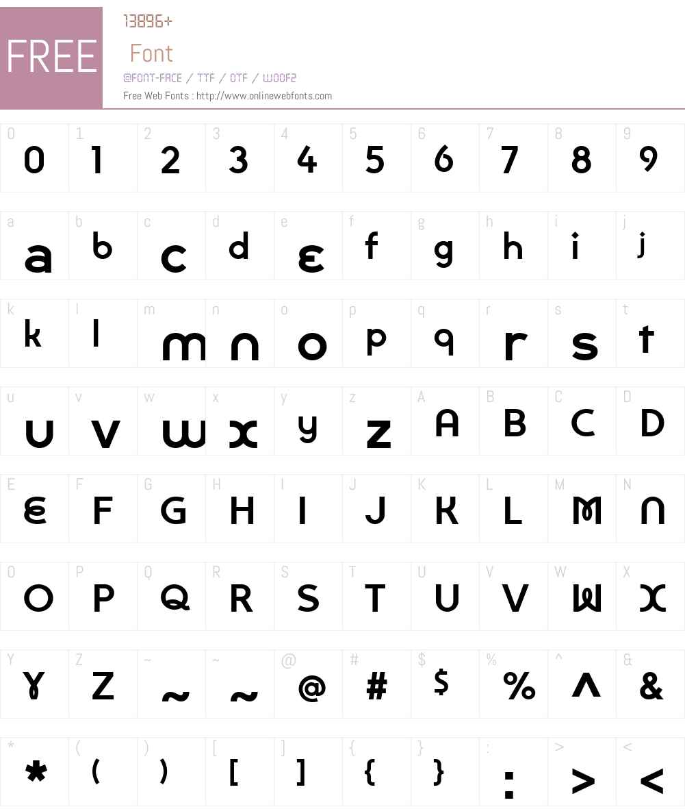 BouclePlainW01-Bold Font Screenshots