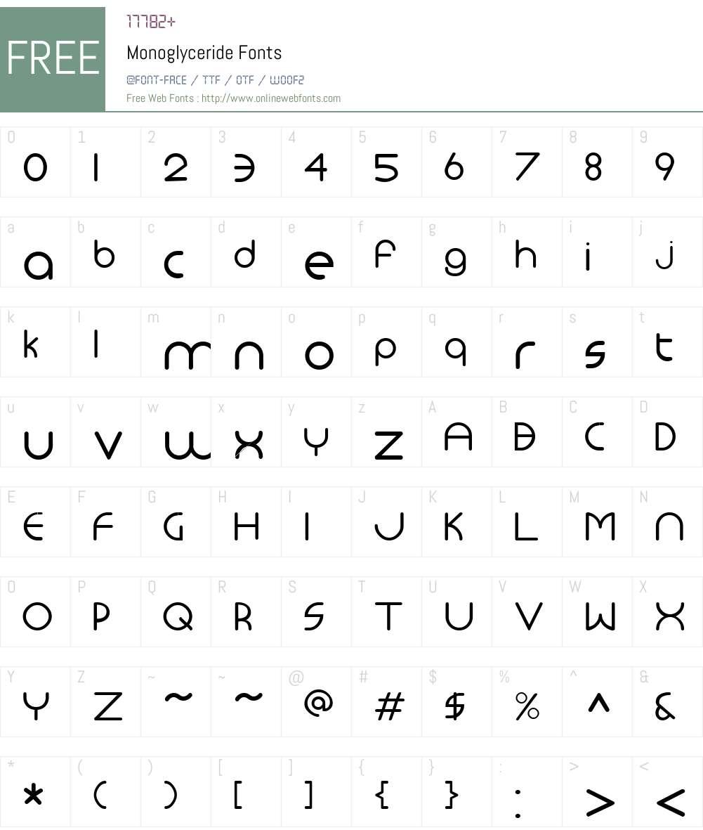 Monoglyceride Font Screenshots