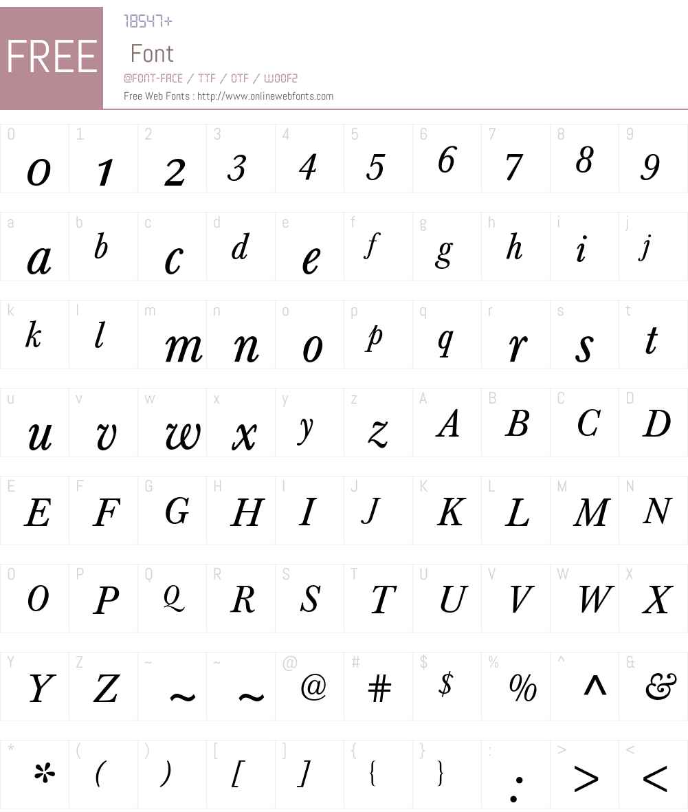 Baskerville Expert BQ Font Screenshots