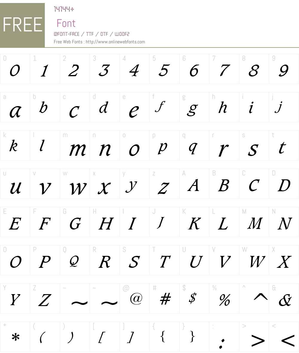 Sudbury Book Font Screenshots