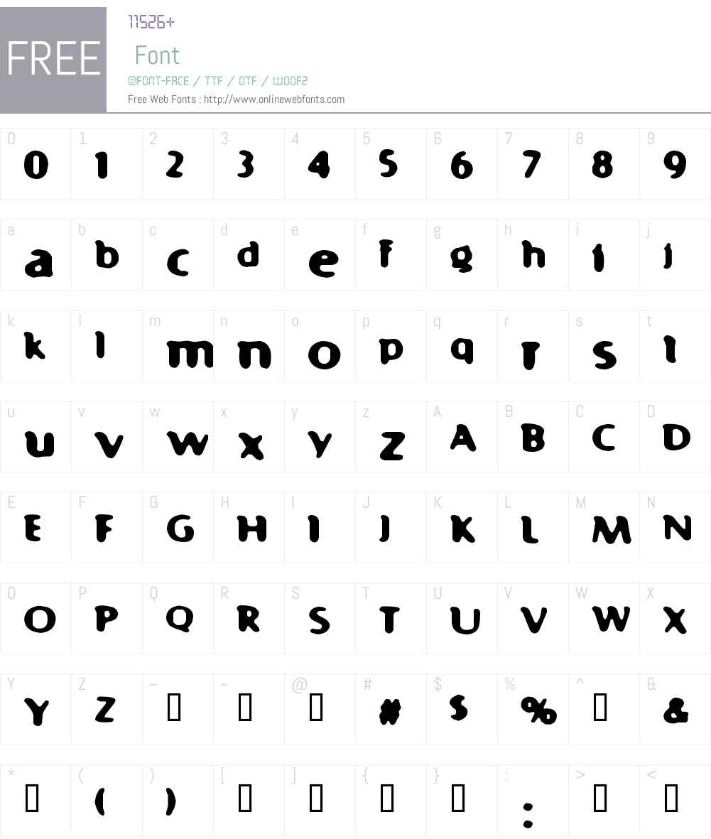 Fast 99 Font Screenshots