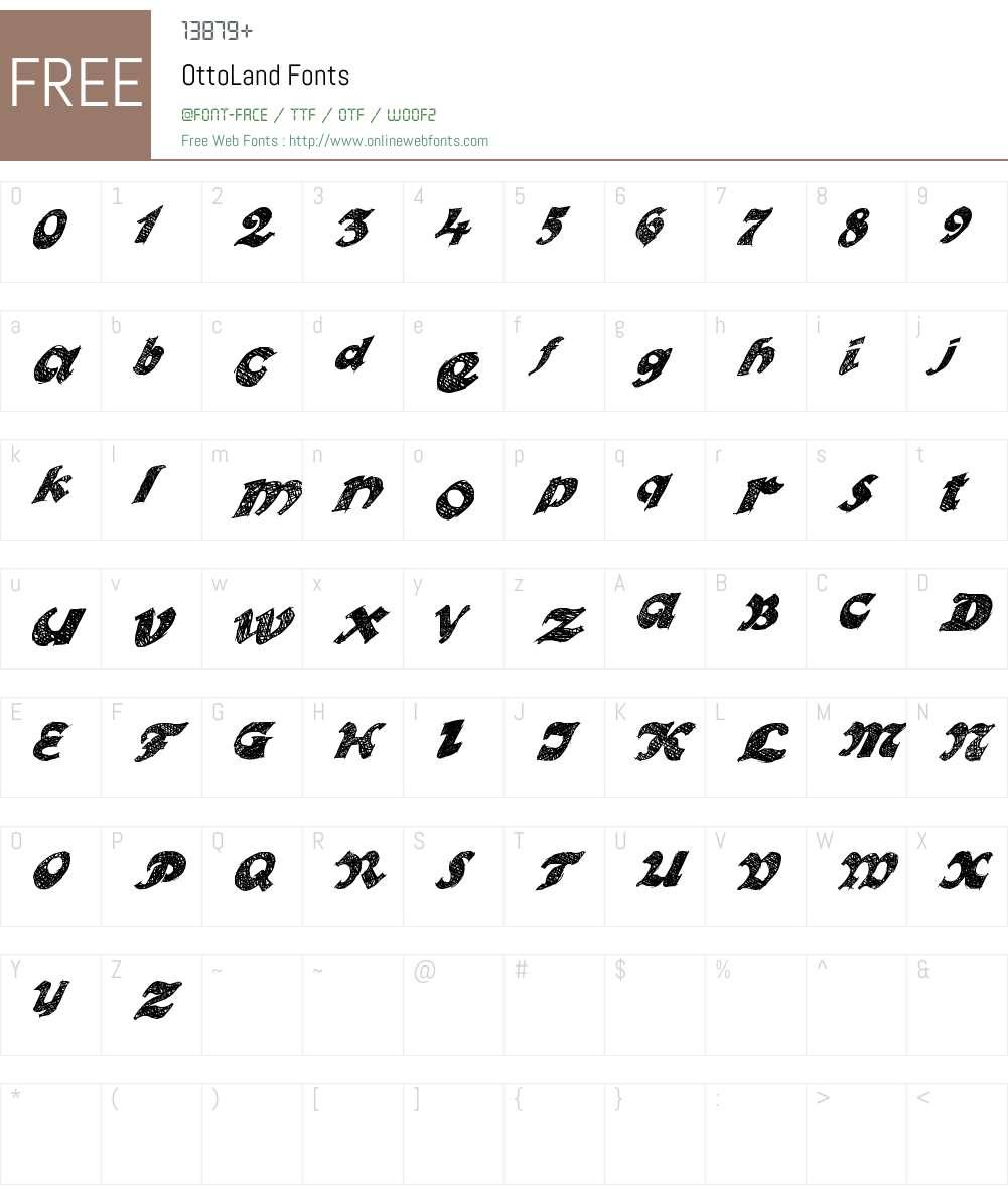 OttoLand Font Screenshots
