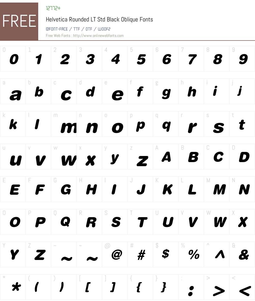 Helvetica Rounded LT Std Font Screenshots