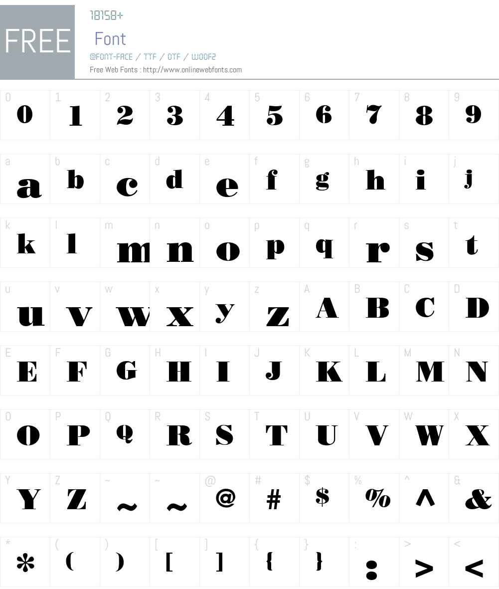 BodoniPosterW10 Font Screenshots