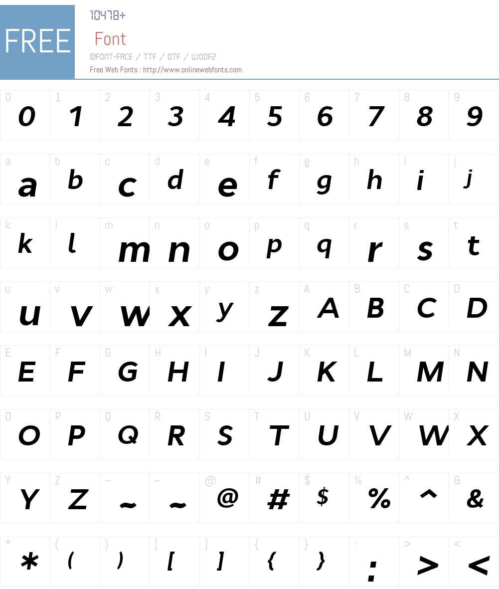 CynthoW00-BoldItalic Font Screenshots