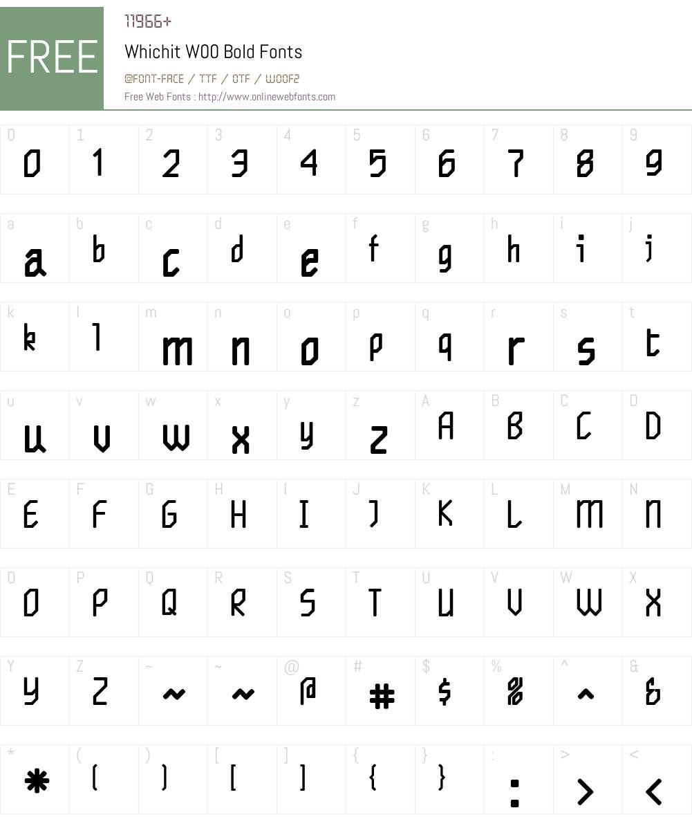 WhichitW00-Bold Font Screenshots