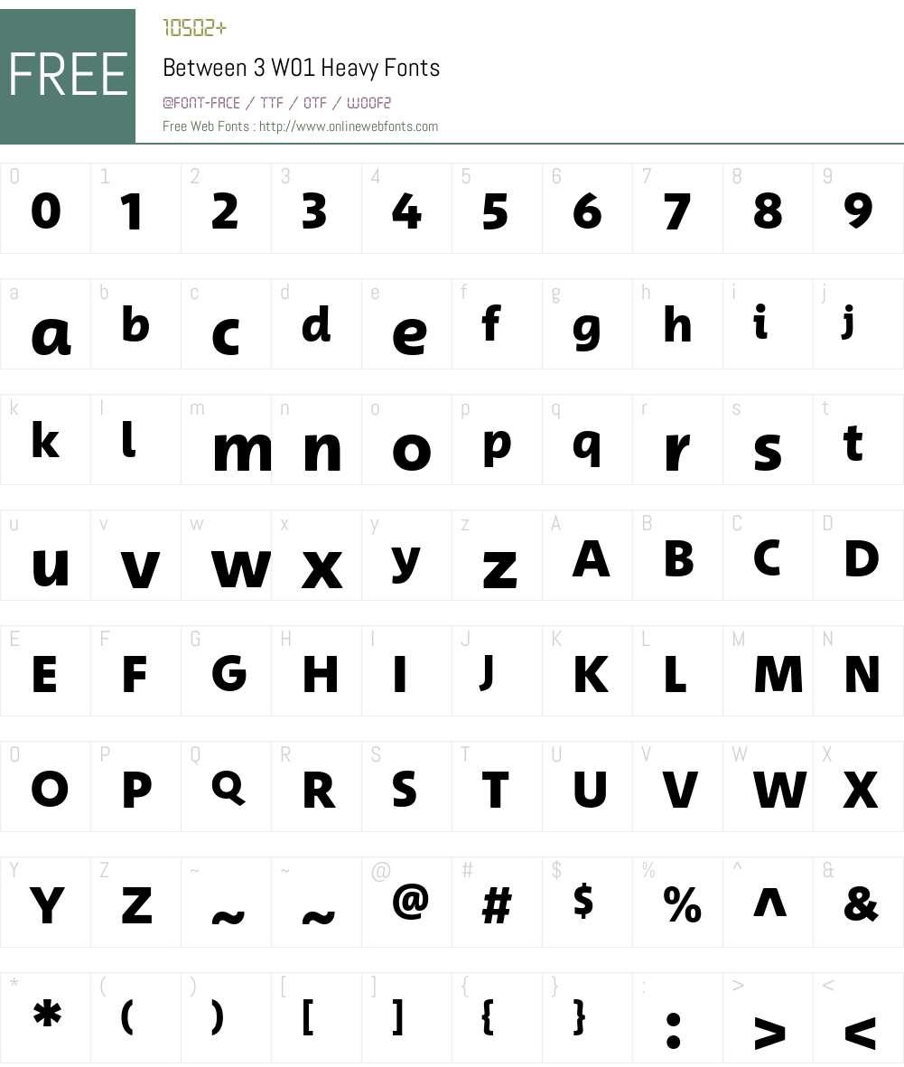 Between3W01-Heavy Font Screenshots