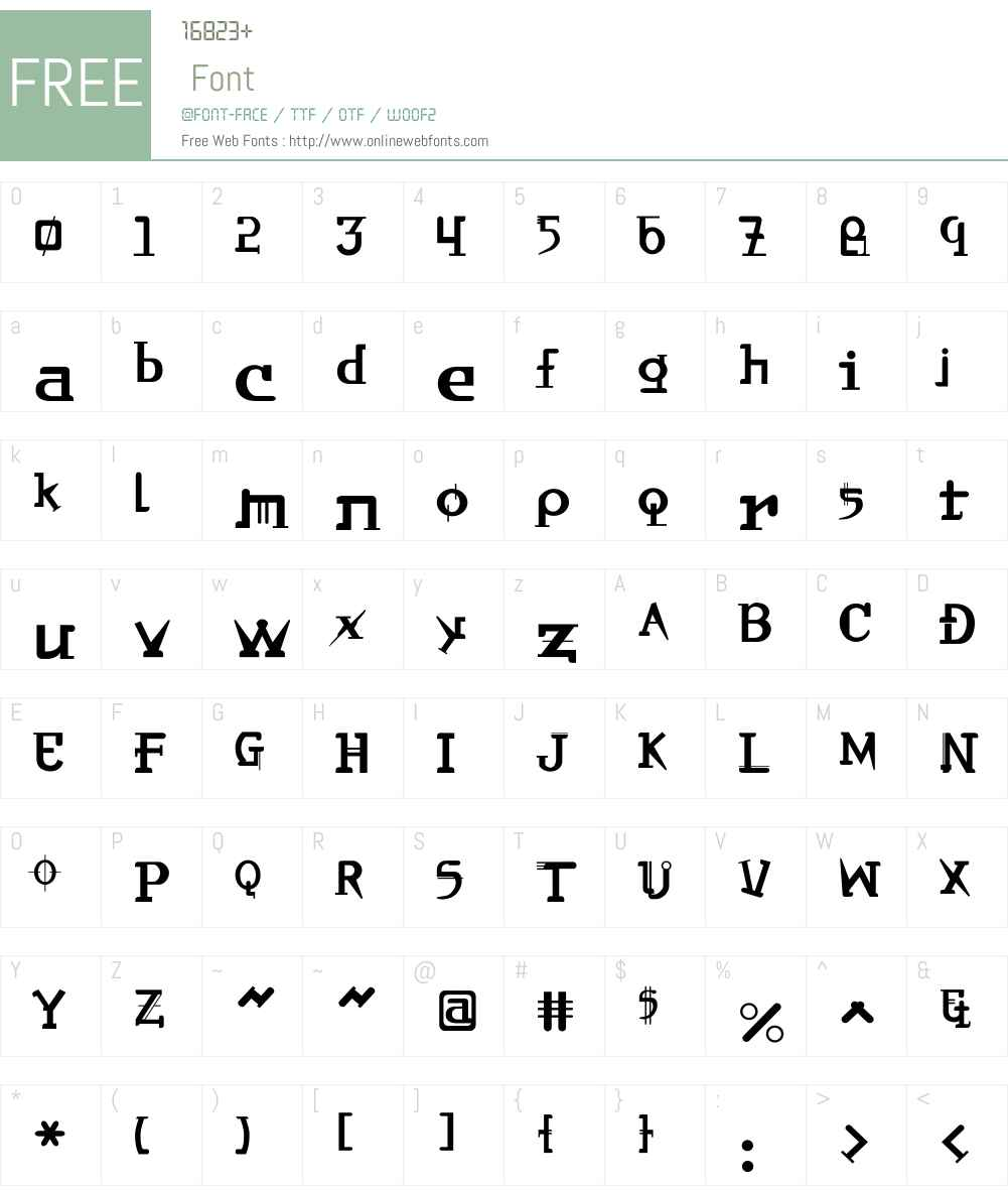 OrbitalW00-Reg Font Screenshots
