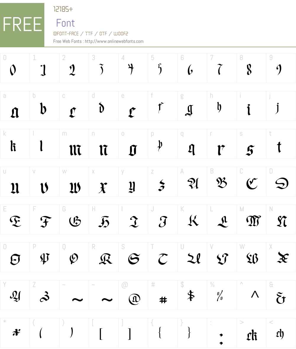Faustus Font Screenshots