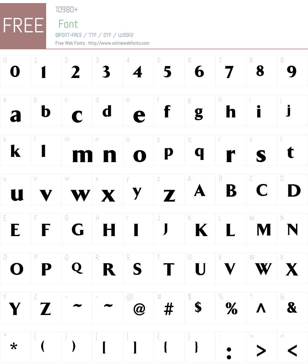ArrowBlack Font Screenshots