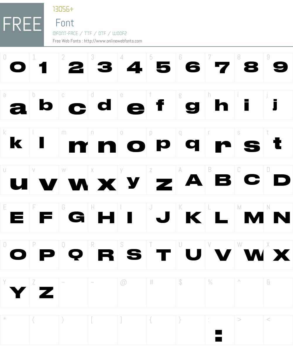 Druk Wide Cy TT Bold Font Screenshots