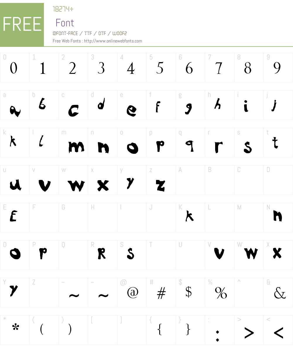 NoRules Font Screenshots