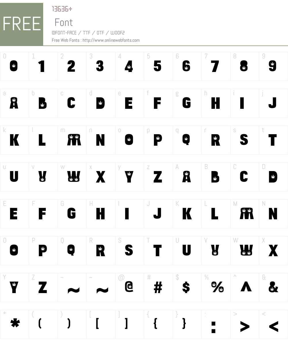 BulltoadW00-Hemp Font Screenshots