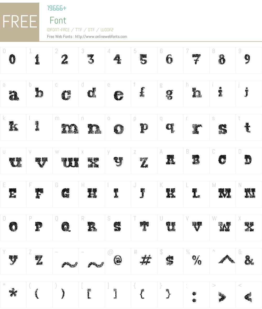 AntiqueDubplateW00-Regular Font Screenshots