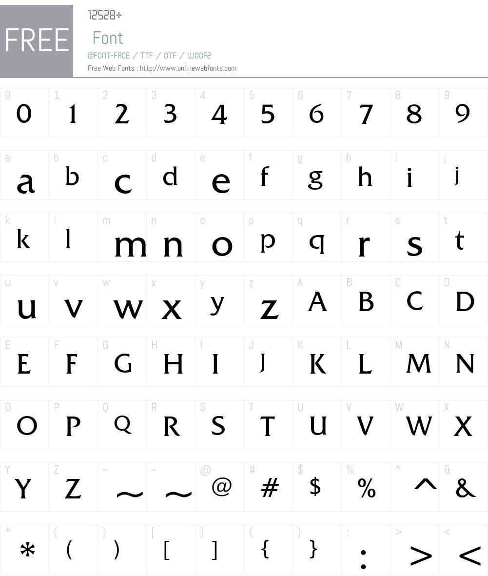 ITC Friz Quadrata Font Screenshots