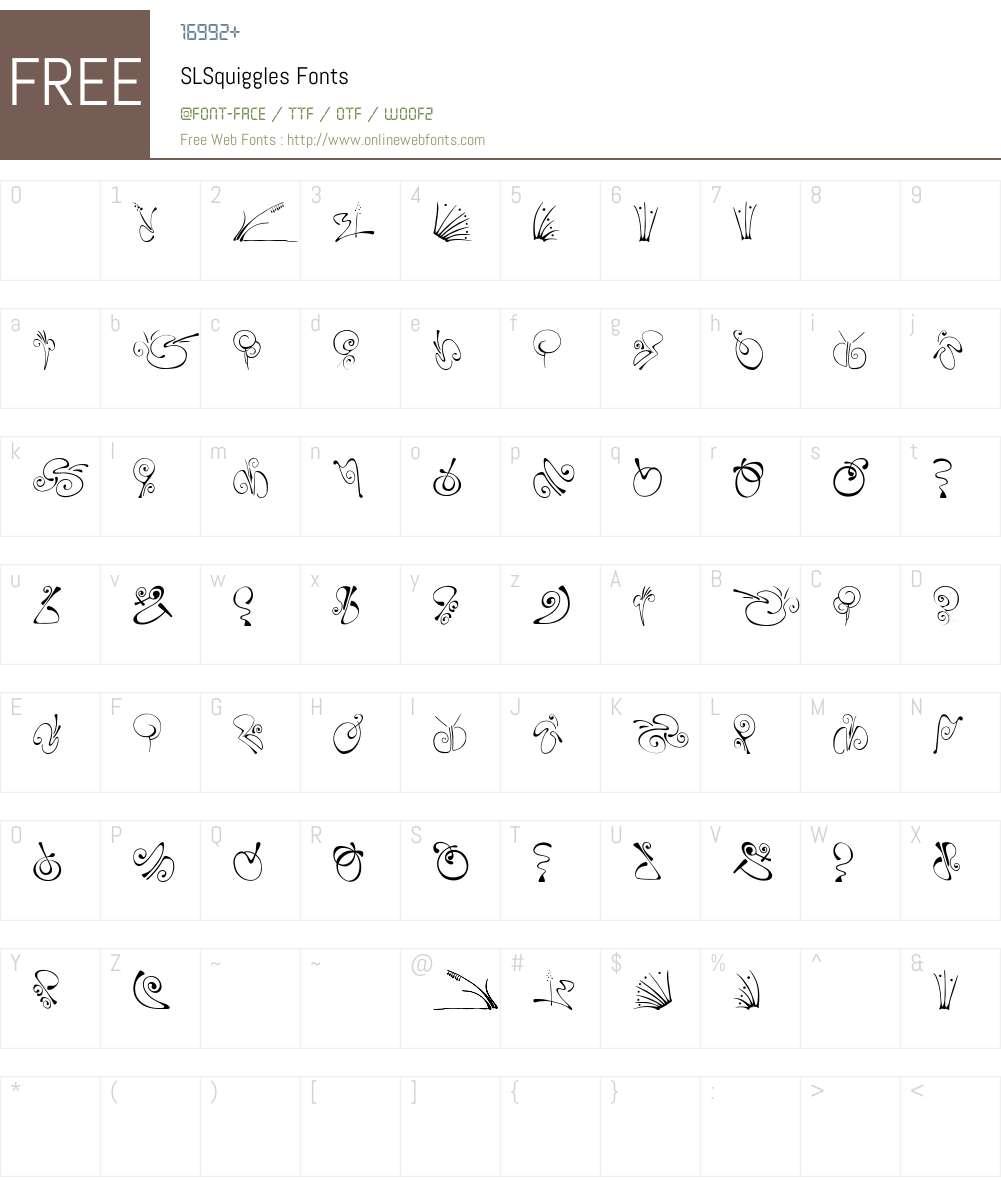 SLSquiggles Font Screenshots