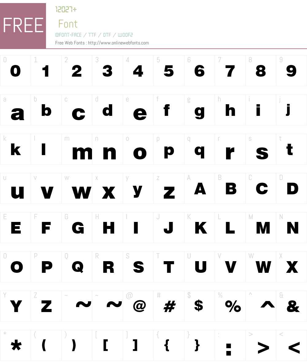 GenevaBlck Font Screenshots