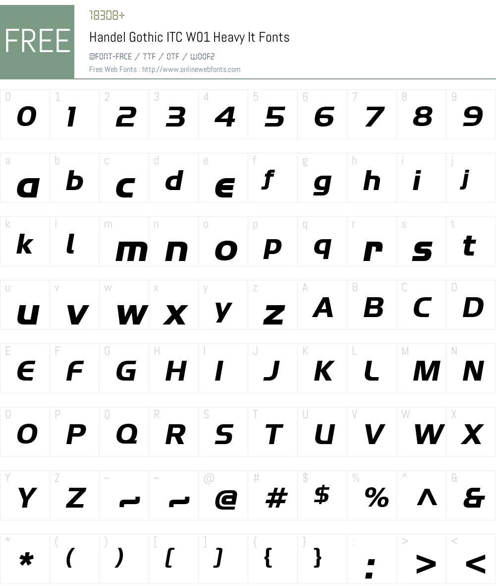 HandelGothicITCW01-HeavyIt Font Screenshots