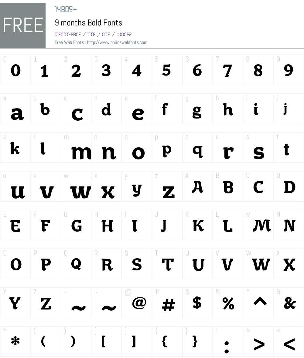 9months-Bold Font Screenshots