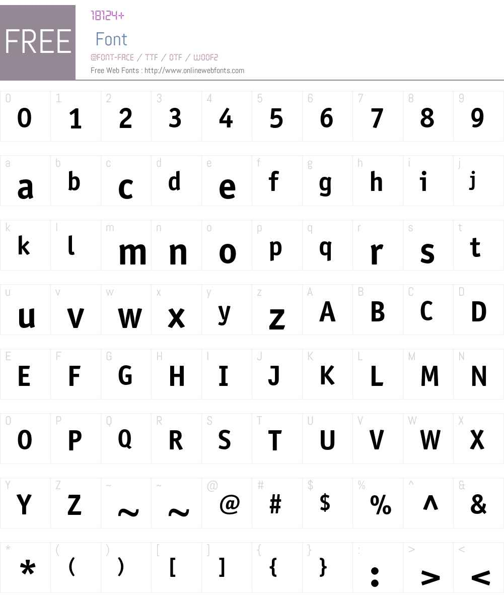 ITC Officina Sans Font Screenshots