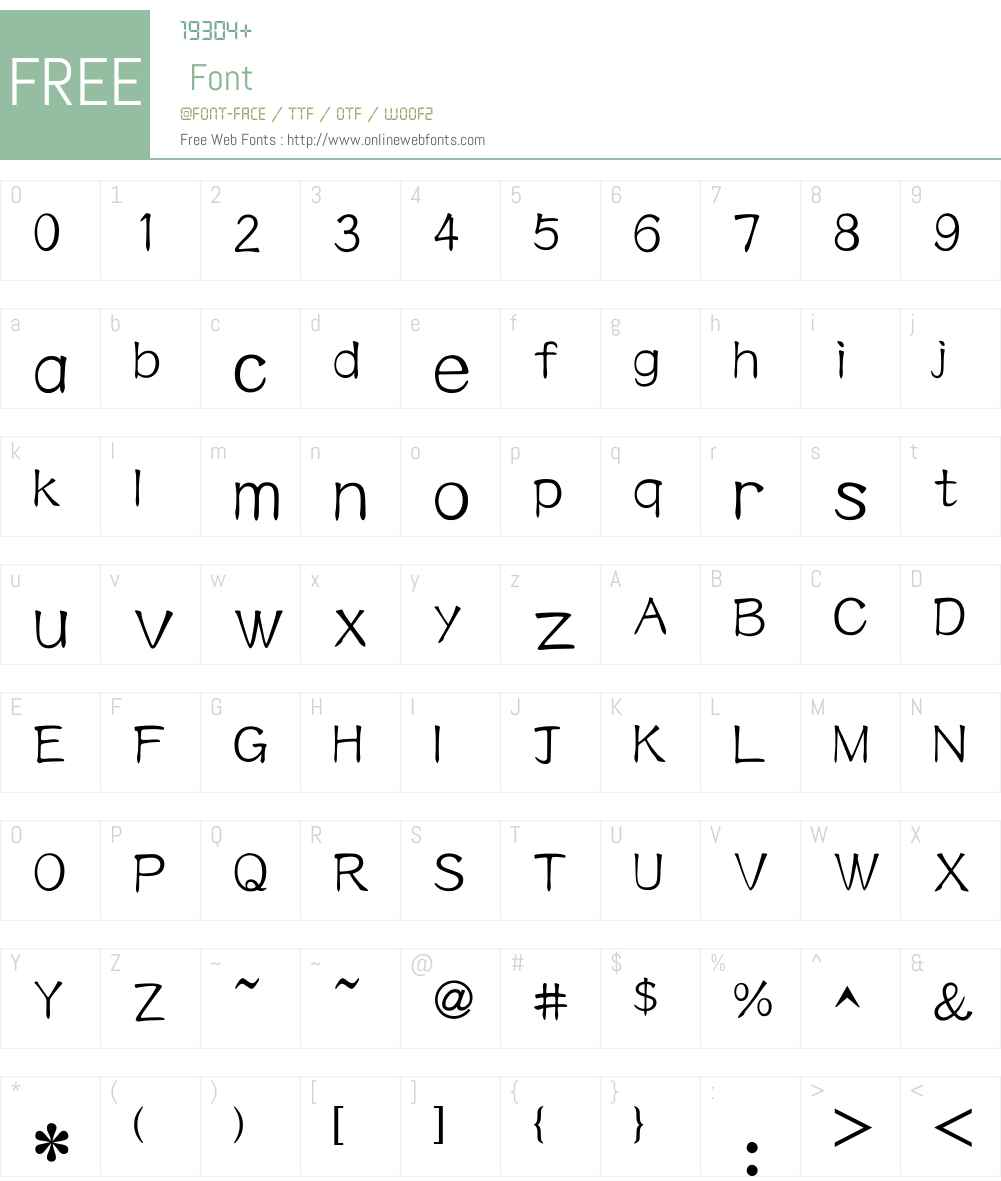 HY Nan Gong Simplified Chinese Font Screenshots