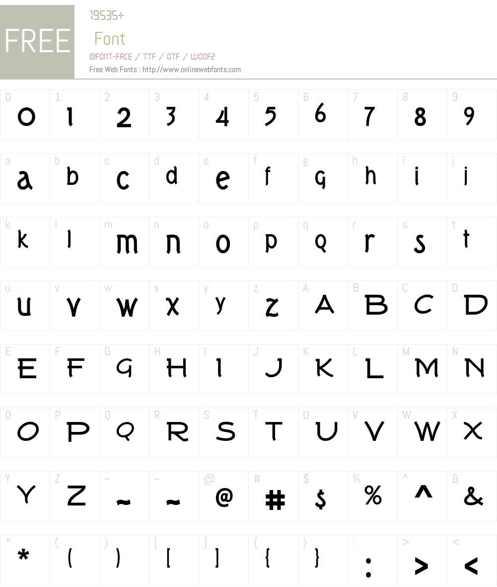 Tork Font Screenshots