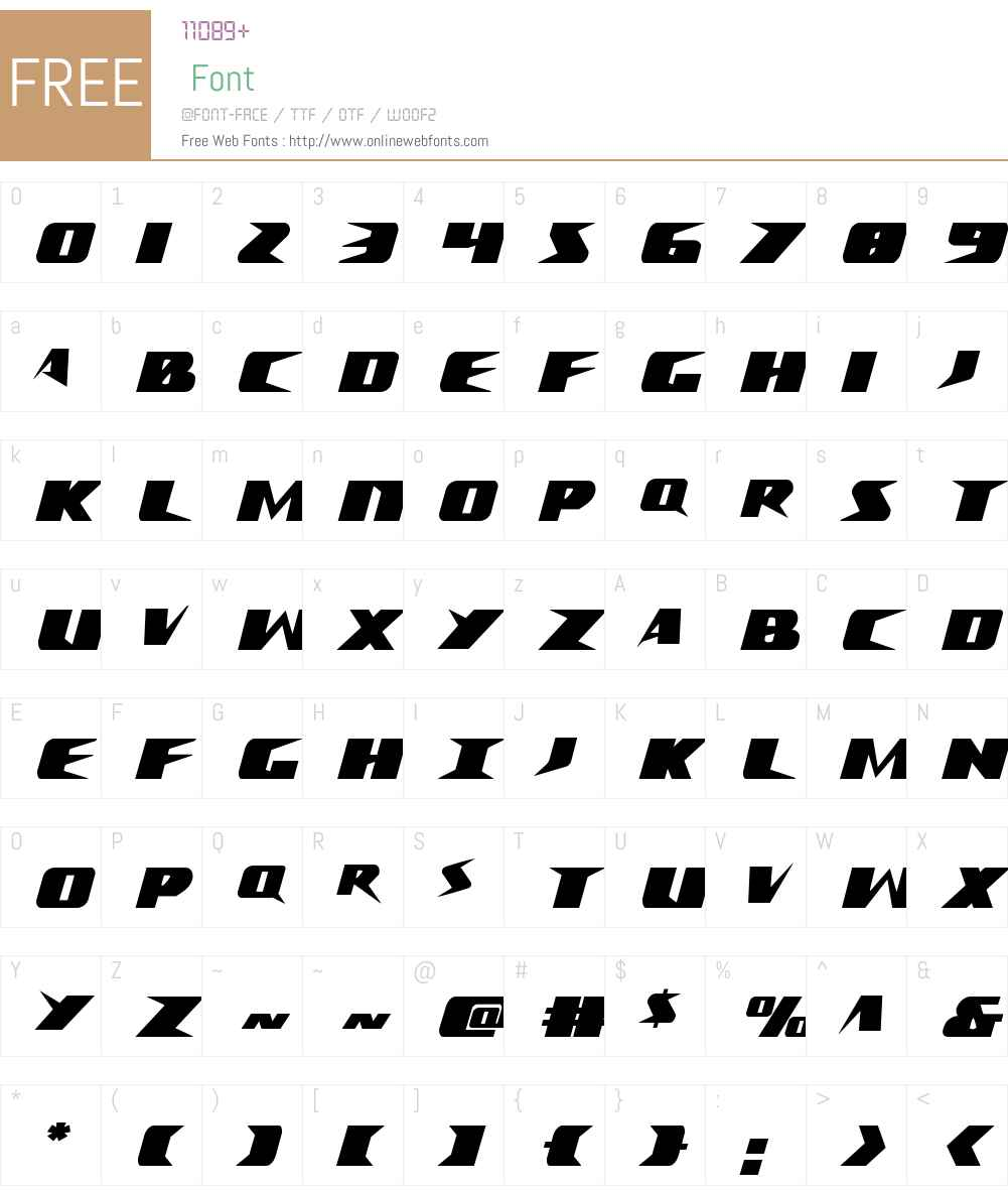 Crime Syndicate Condensed Font Screenshots