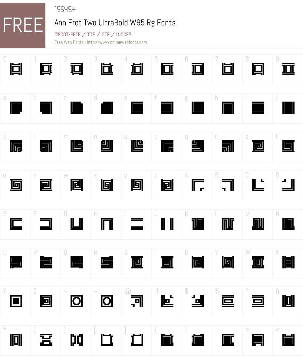 Ann Fret Two UltraBold Font Screenshots