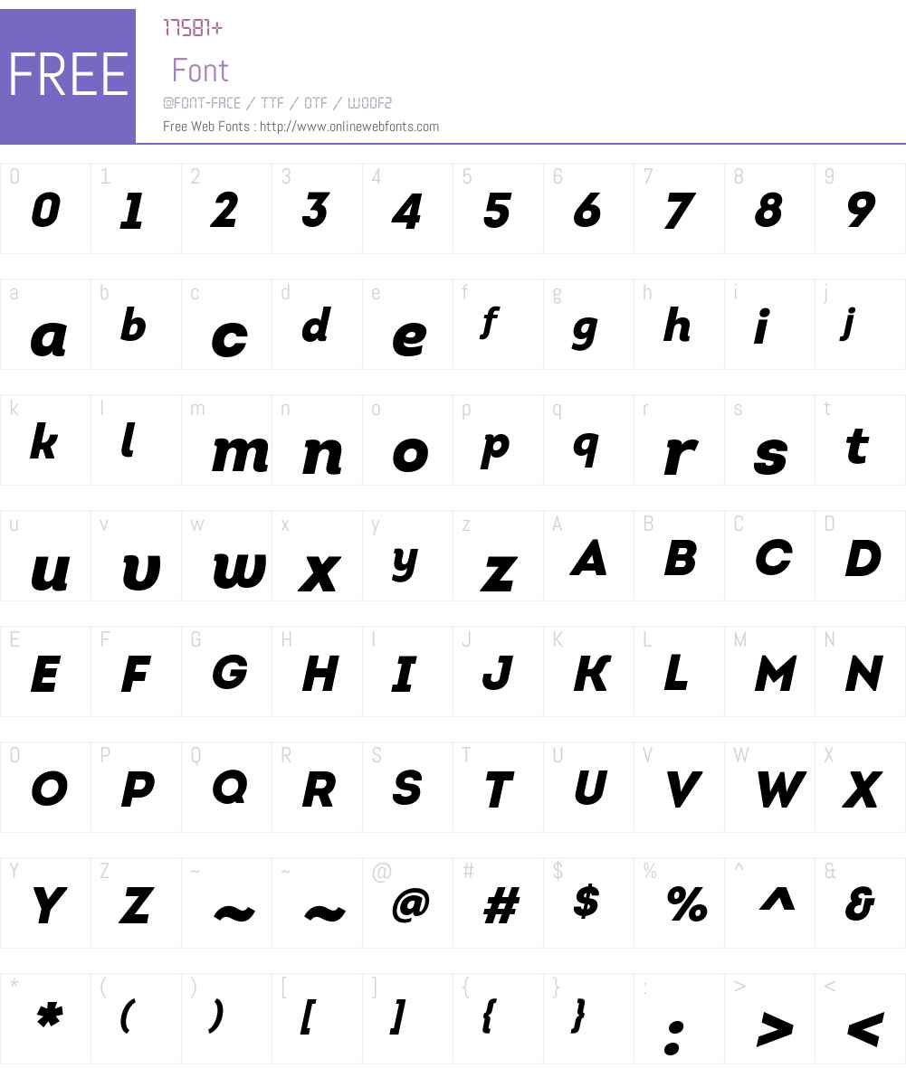 IntroW01-BlackItalic Font Screenshots