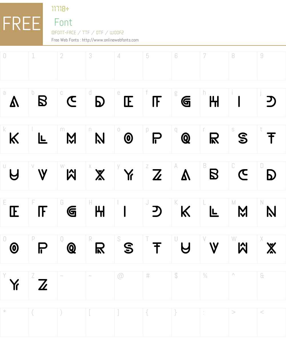 never ending maze Font Screenshots