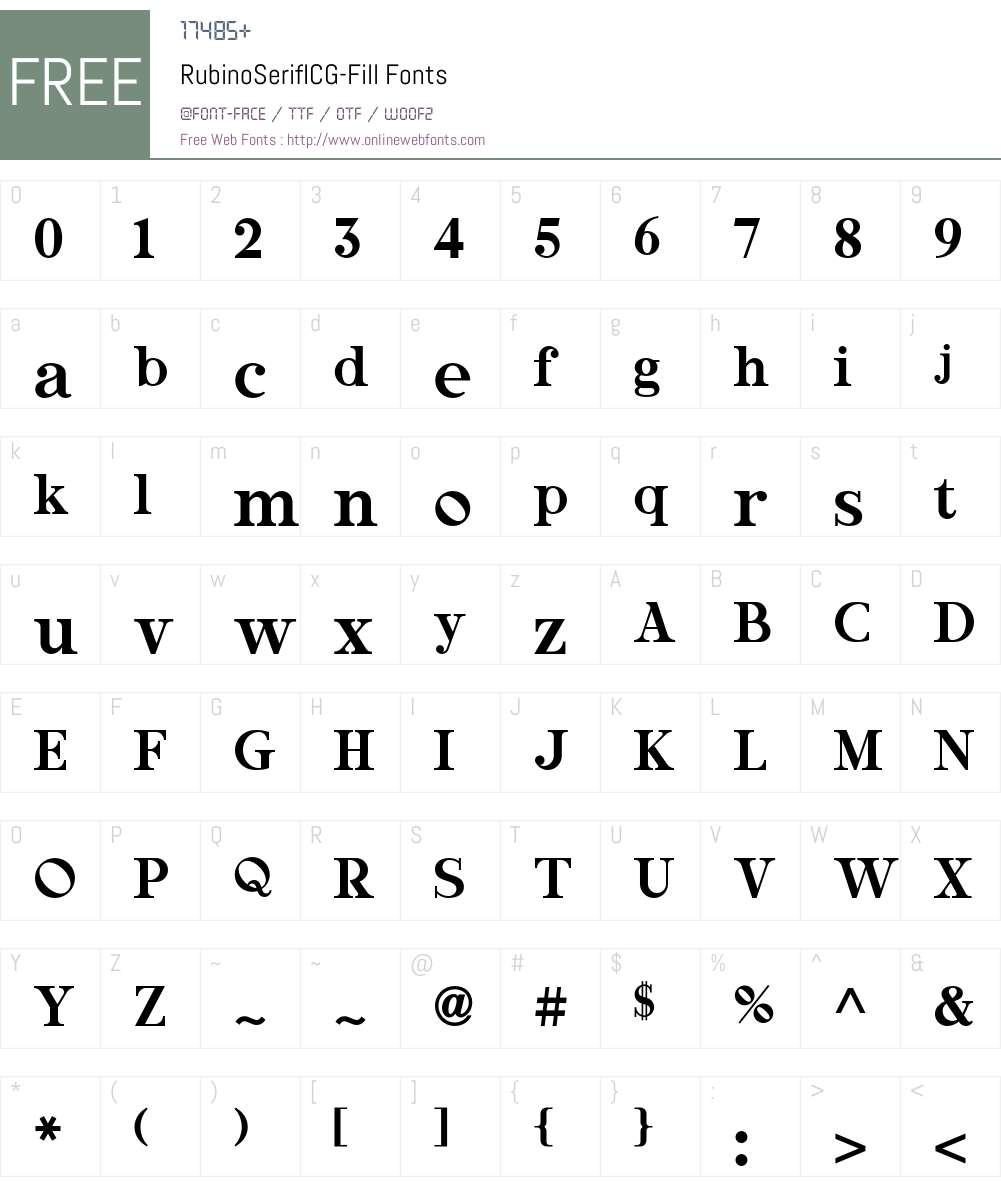 RubinoSerifICG Font Screenshots