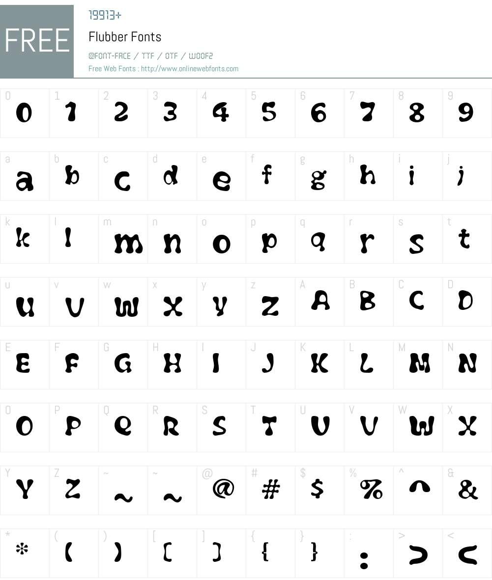 Flubber Font Screenshots