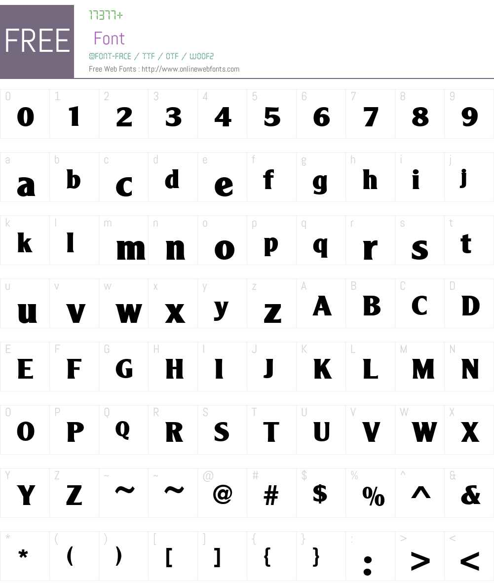 URWAgendaW01-ExtraBold Font Screenshots