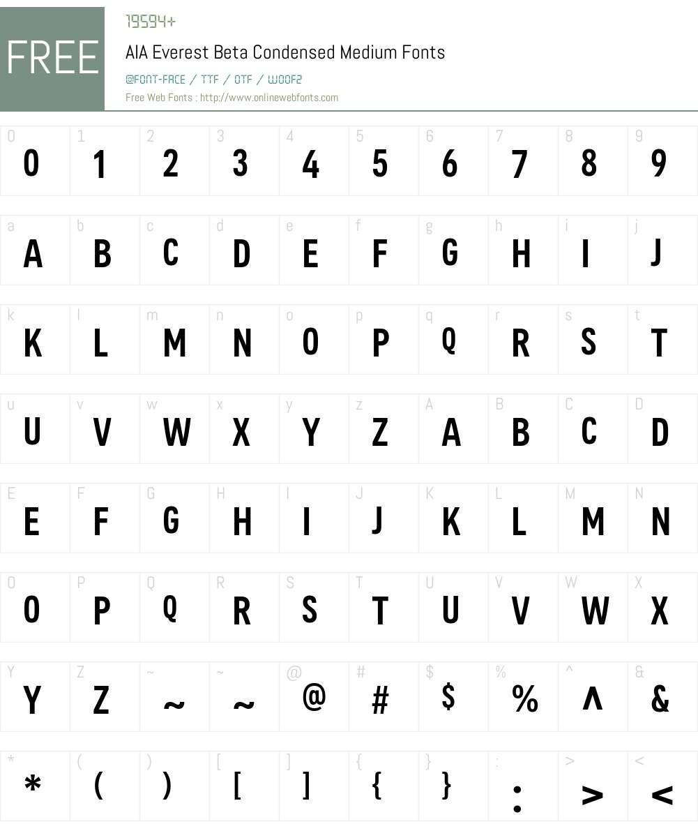 AIA Everest Beta Cond Medium Font Screenshots