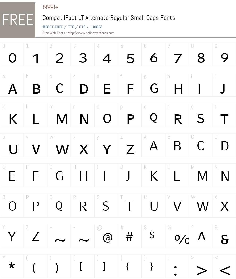 CompatilFact LT Font Screenshots