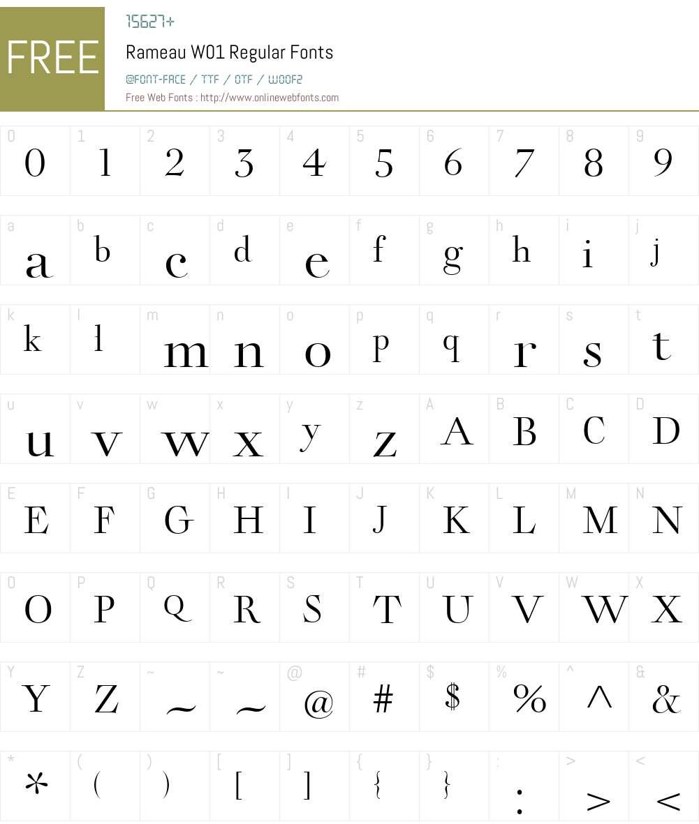 RameauW01-Regular Font Screenshots