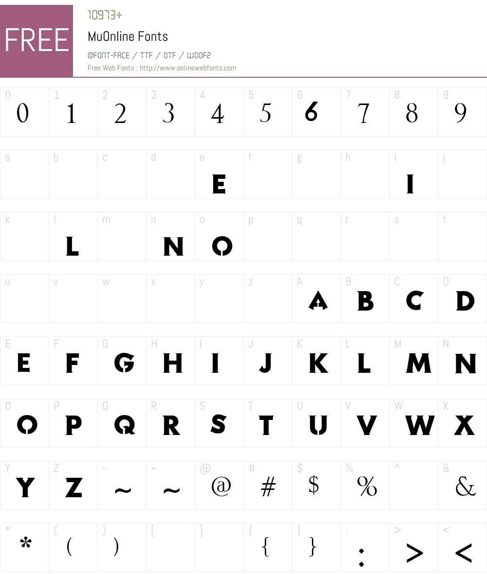 MuOnline Font Screenshots