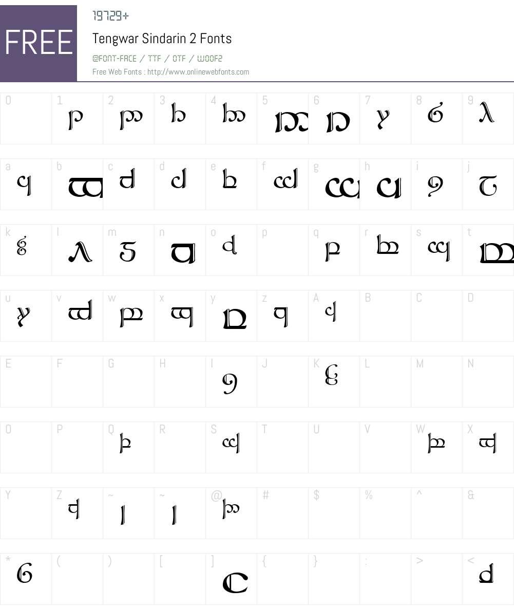 Tengwar Sindarin-2 Font Screenshots